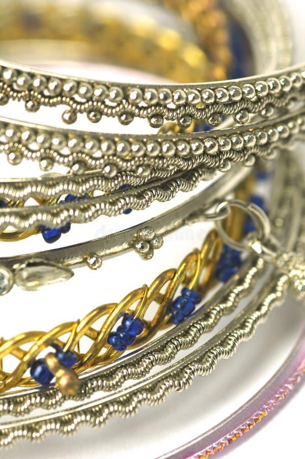 Braceletes da forma fotografia de stock royalty free