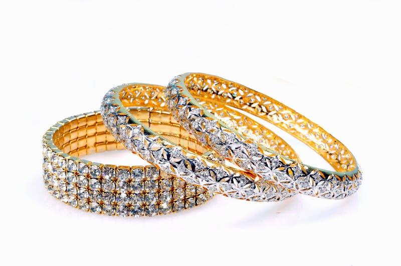 Braceletes do diamante imagens de stock