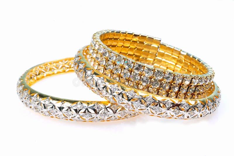 Braceletes do diamante foto de stock
