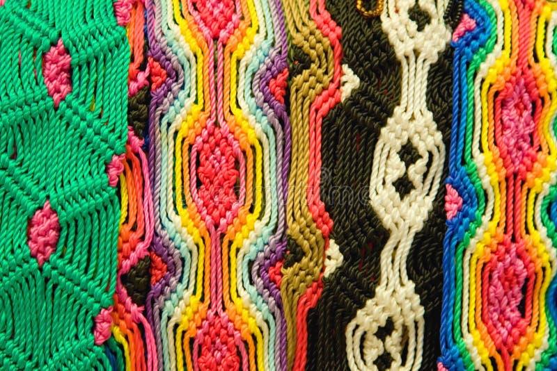 Braceletes tecidos mexicanos imagem de stock royalty free