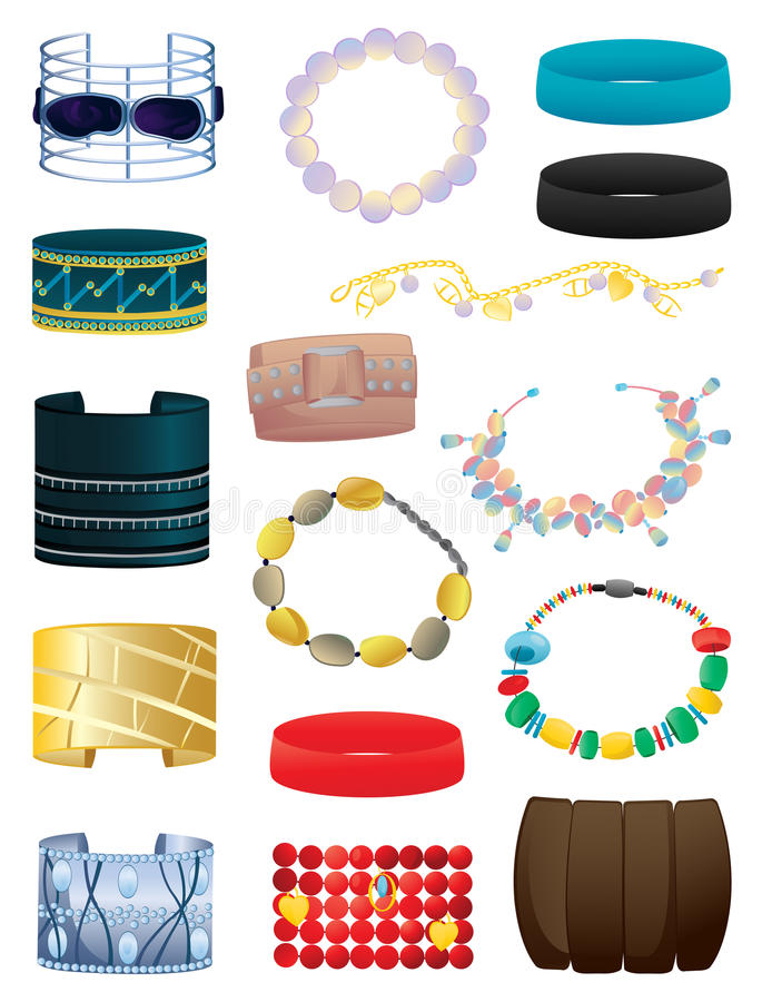 Download Bracelets stock vector. Illustration of cartoon, circle - 28599286