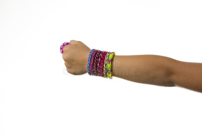Bracelets d'une bande élastique photo stock