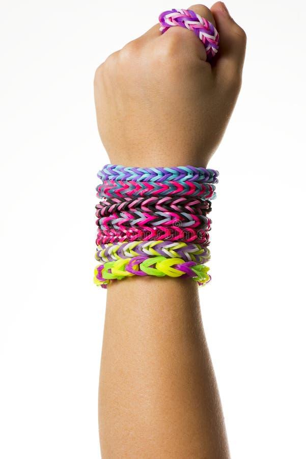 Bracelets d'une bande élastique photo libre de droits