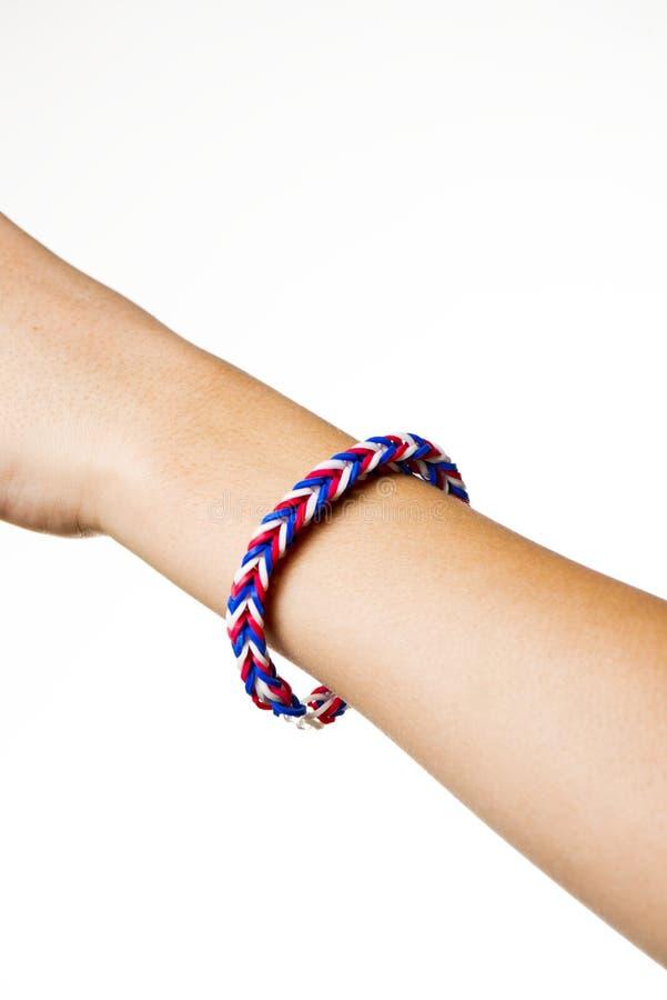 Bracelets d'une bande élastique images libres de droits