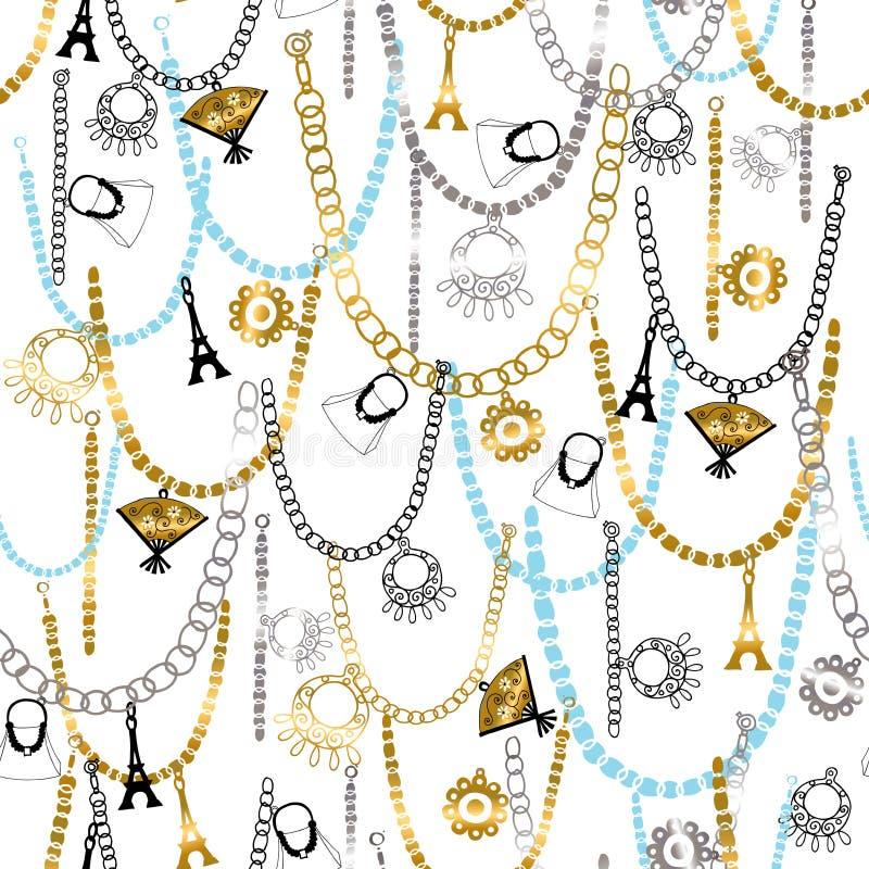 Bracelets de charme et bagout sans joint de bijou illustration de vecteur