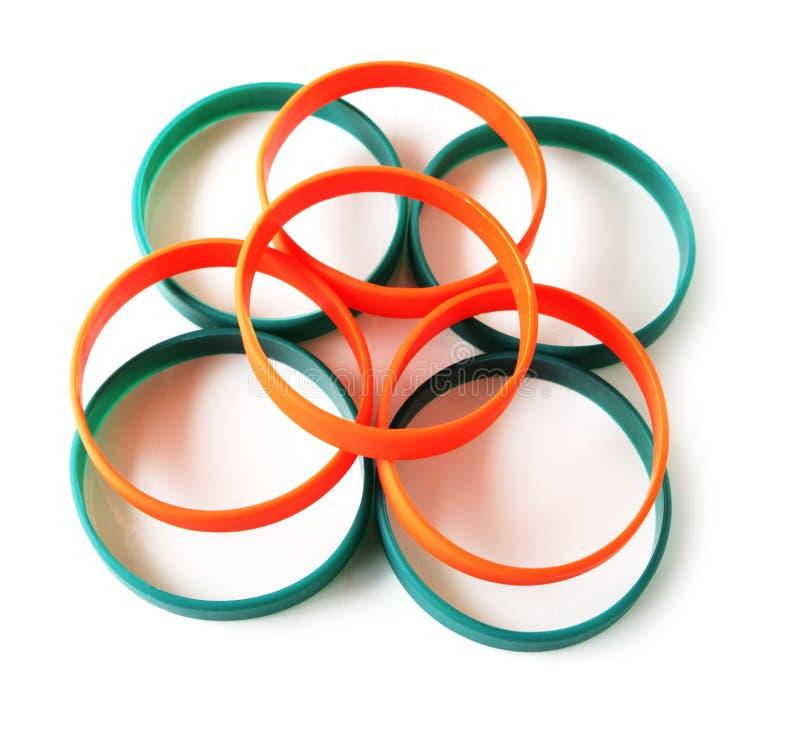 Bracelets de silicones photos libres de droits