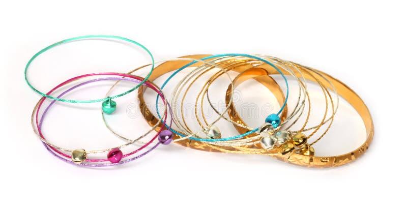 Bracelets en métal photos stock
