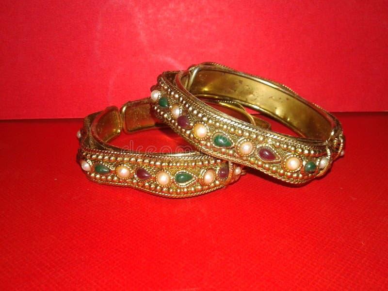 Bracelets indiens E image stock