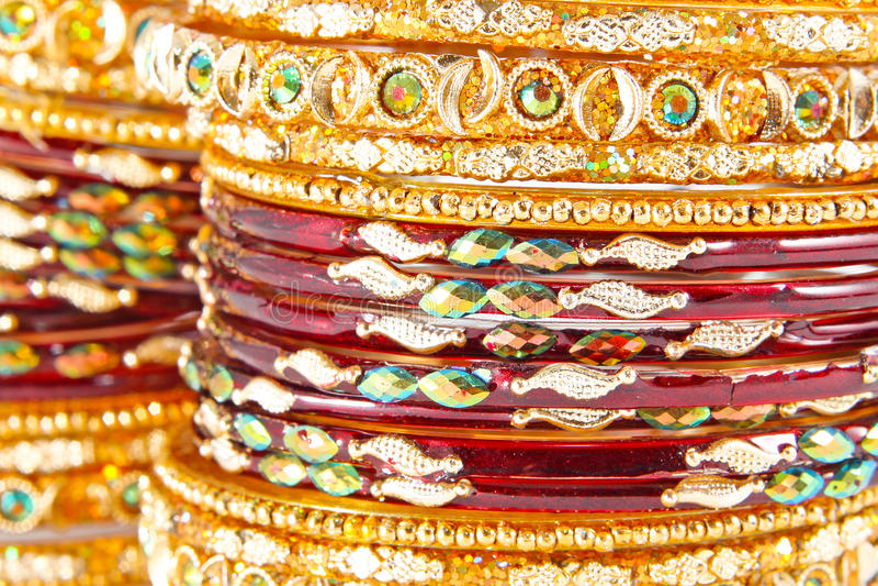 Bracelets indiens traditionnels photos stock