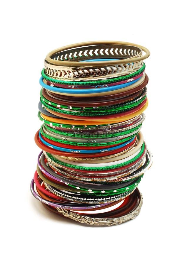 Bracelets isolated royalty free stock photos