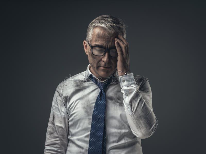 Brach arbeitslosen Geschäftsmann stockfotografie