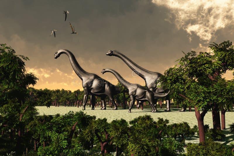 Brachiosaurus 02 illustration de vecteur