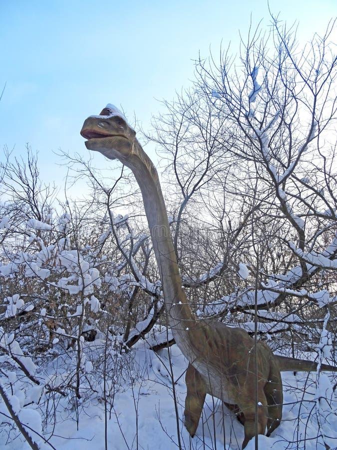 Brachiosaurus altithorax van Recente Jura stock afbeelding