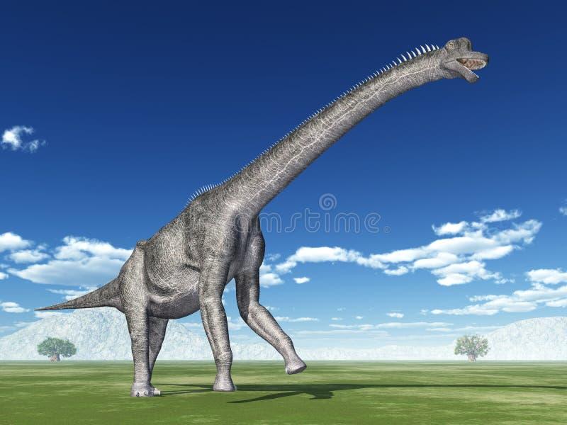 Brachiosaurus del dinosaurio stock de ilustración