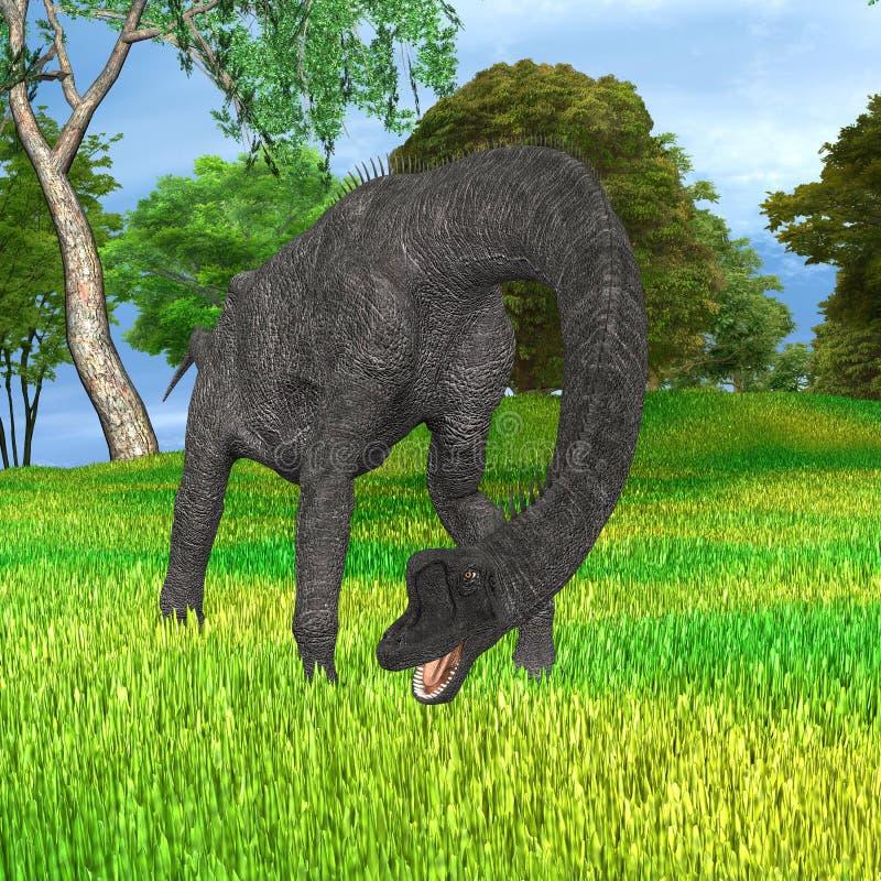 Brachiosaurus del dinosaurio en parque libre illustration