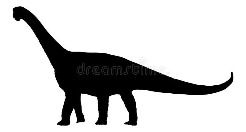 Brachiosaurus do dinossauro; brontosaurus; silhueta do diplodocus ilustração do vetor
