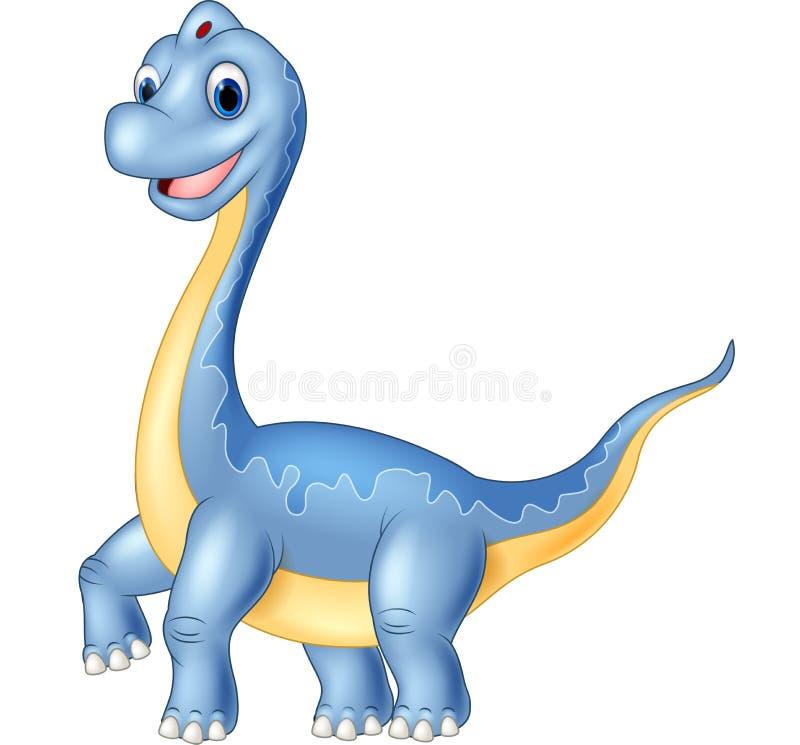 Brachiosaurus géant de dinosaure sur le fond blanc illustration de vecteur