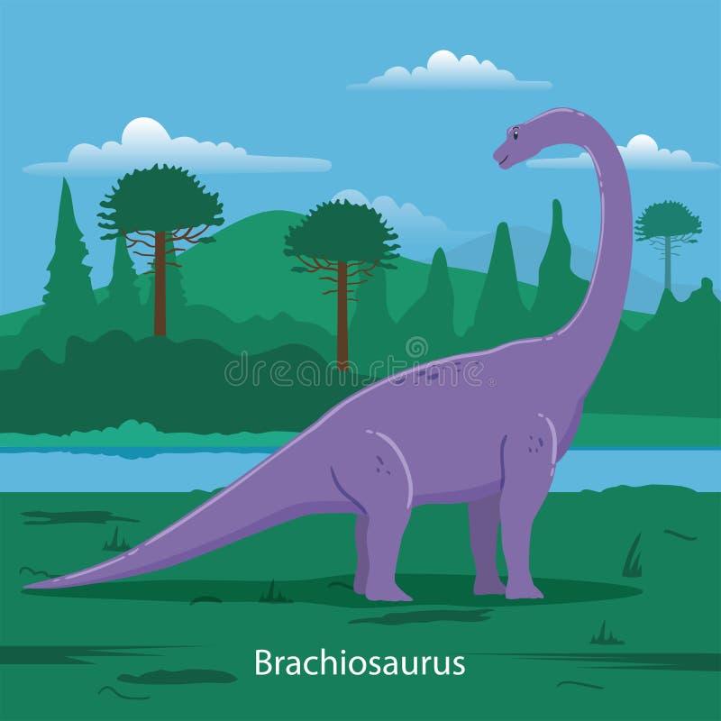 Brachiosaurus Voorhistorisch dier royalty-vrije illustratie