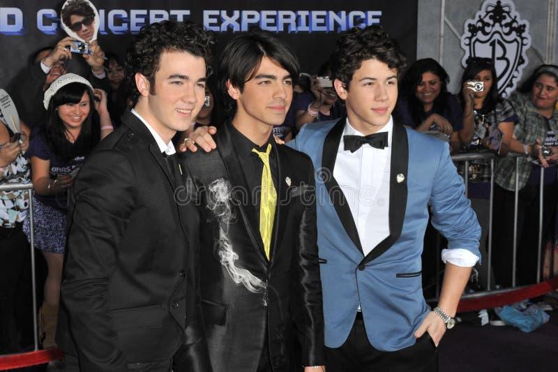braci Joe Jonas Kevin nick obrazy royalty free