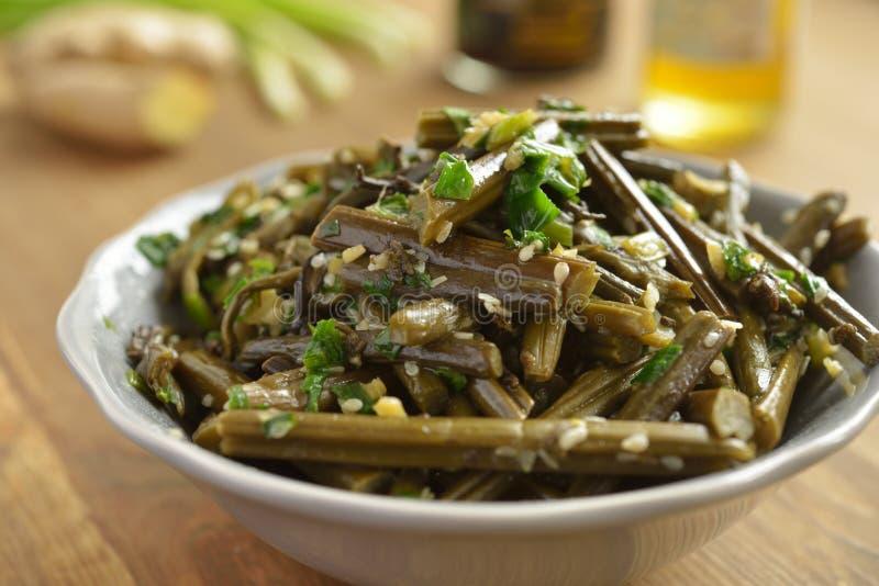 Bracken fern salad stock photos