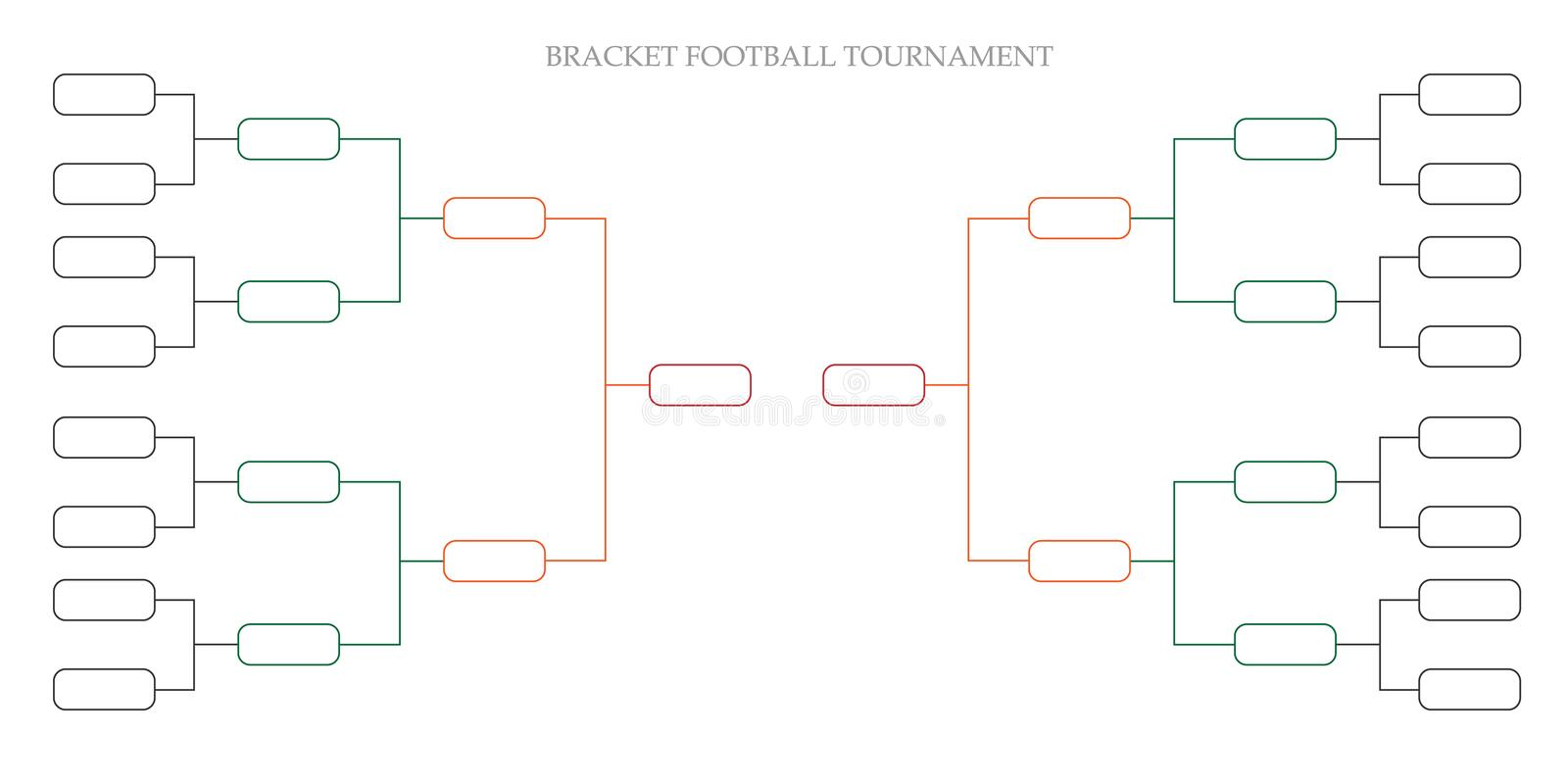 Bracket football tournament vector illustration