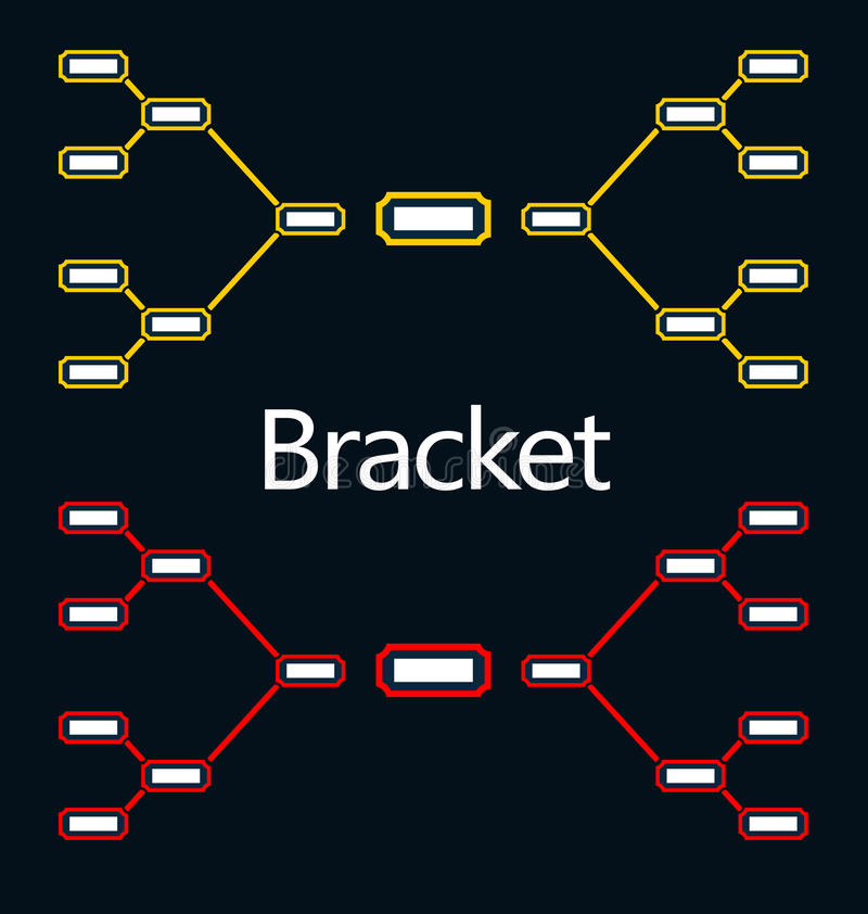 Bracket Tournament royalty free illustration