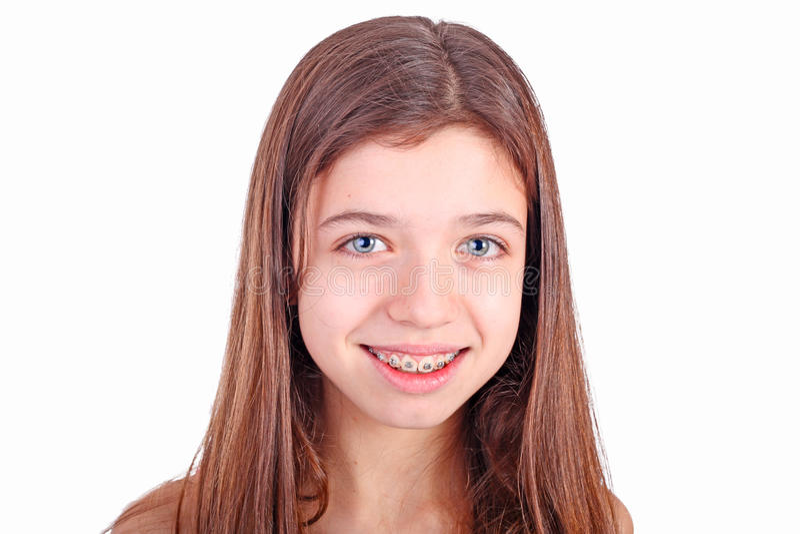 brackets den teen flickan fotografering för bildbyråer