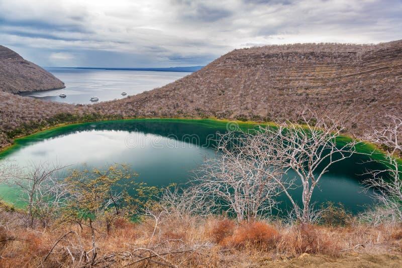 Brackish лагуна в Галапагос стоковое изображение