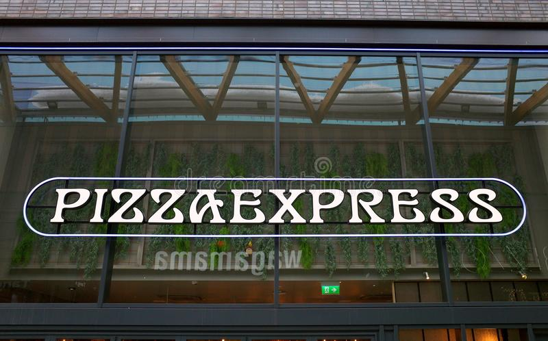 Pizza Express Restaurant Sign Logo Editorial Image Image