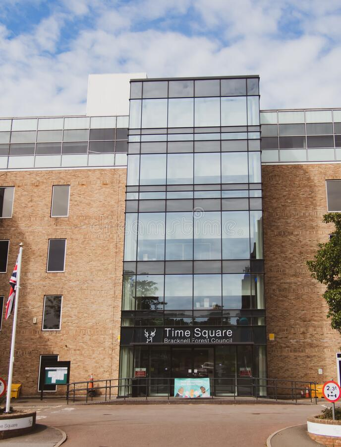 Bracknell, England May 17 2020. Time Square Offices of Bracknell Forest Council stock photography