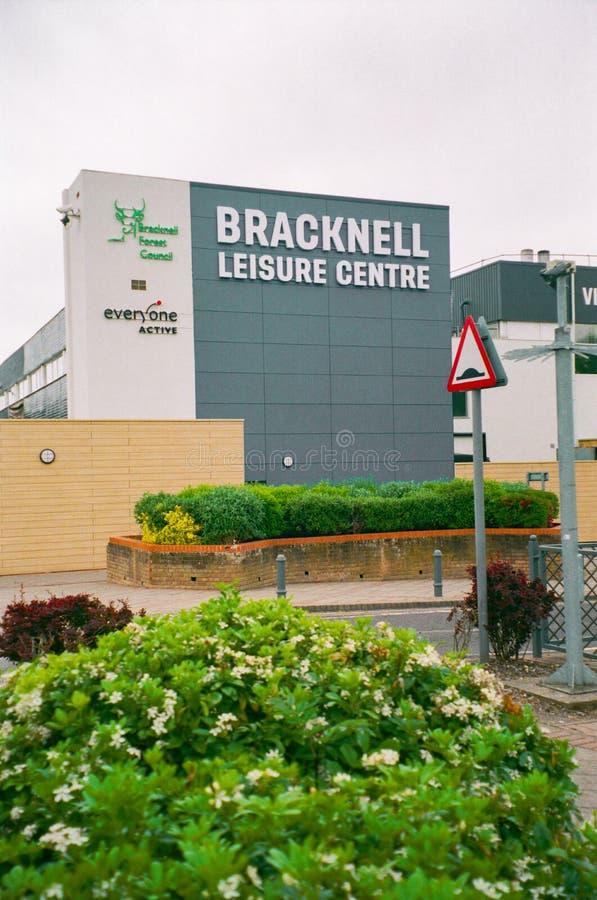 Bracknell, England. United Kingdom - May 15 2020: Bracknell Leisure Centre stock image