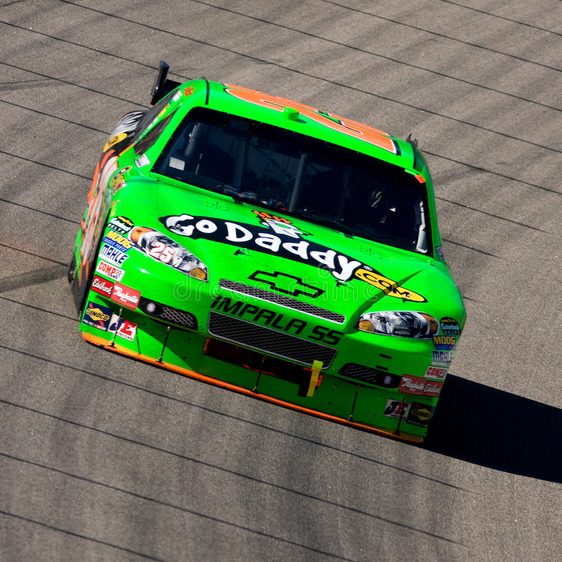Brad Keselowski. Drives the #25 GoDaddy.Com Chevrolet during the Samsung 500, held at the Texas Motor Speedway in Fort Worth, Texas, on April 5, 2009 stock photography