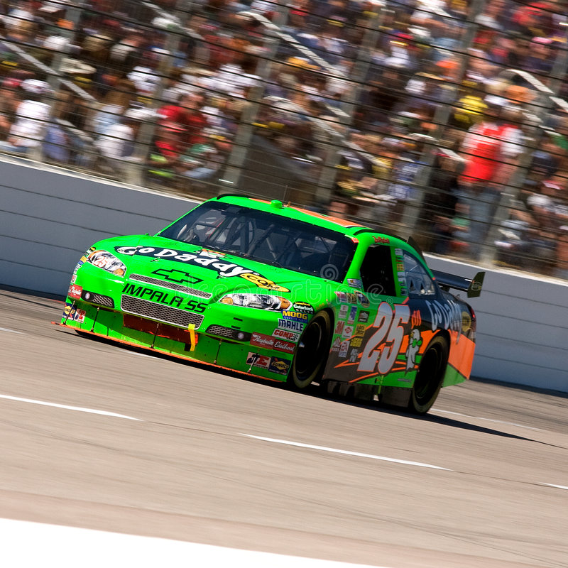 Brad Keselowski. Drives the #25 GoDaddy.Com Chevrolet during the Samsung 500, held at the Texas Motor Speedway in Fort Worth, Texas, on April 5, 2009 stock photo