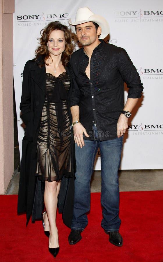 Brad Paisley och Kimberly Williams royaltyfri bild
