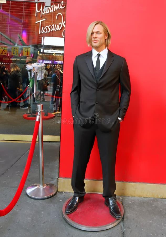 Brad Pitt σε κηρό στοκ εικόνες με δικαίωμα ελεύθερης χρήσης