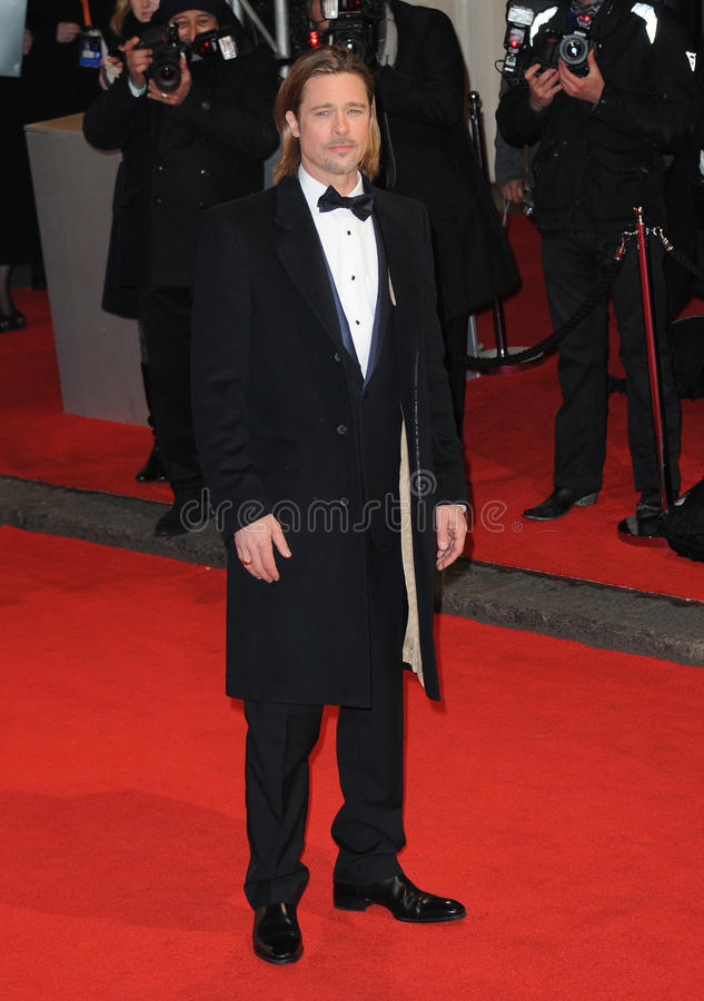 Brad Pitt. Attends the Orange British Academy Film Awards 2012 at the Royal Opera House. February 12, 2012, London, UK Picture: Catchlight Media / Featureflash royalty free stock image