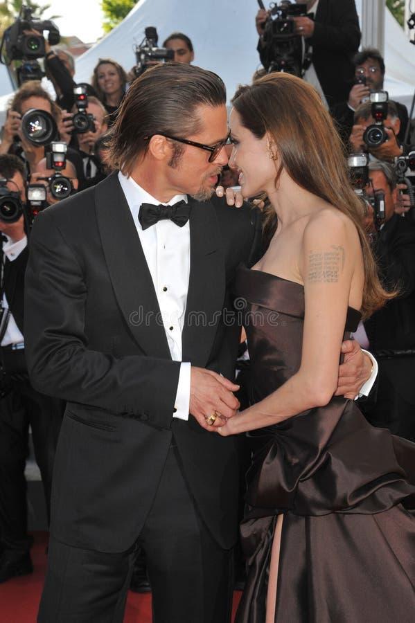 ANGELINA JOLIE, Angelina Jolie, Brad Pitt royalty-vrije stock fotografie