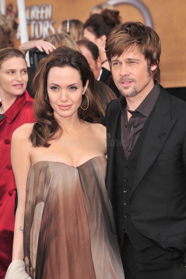 Brad Pitt, Angelina Jolie stock foto's
