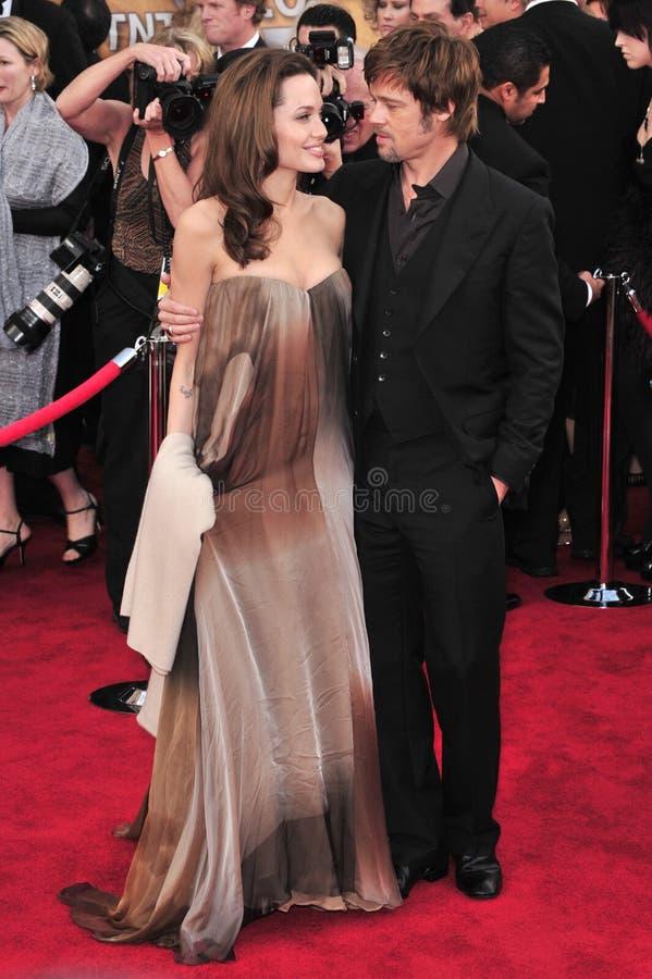 Brad Pitt, Angelina Jolie royalty free stock photography