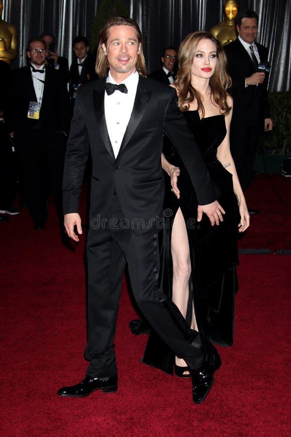 Brad Pitt, Angelina Jolie photographie stock libre de droits