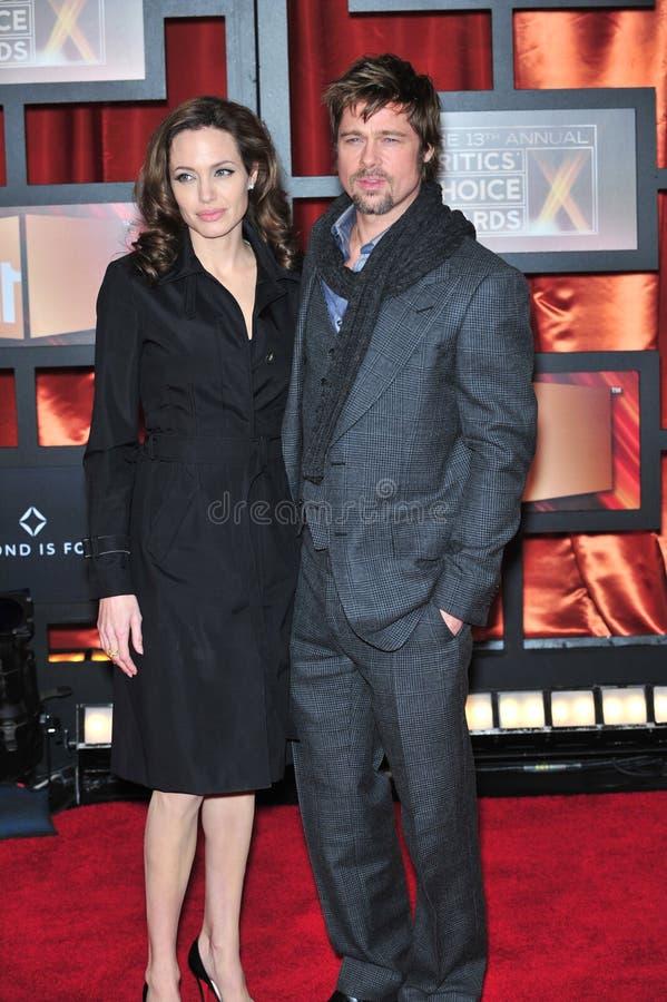 Brad Pitt, Angelina Jolie stock afbeeldingen