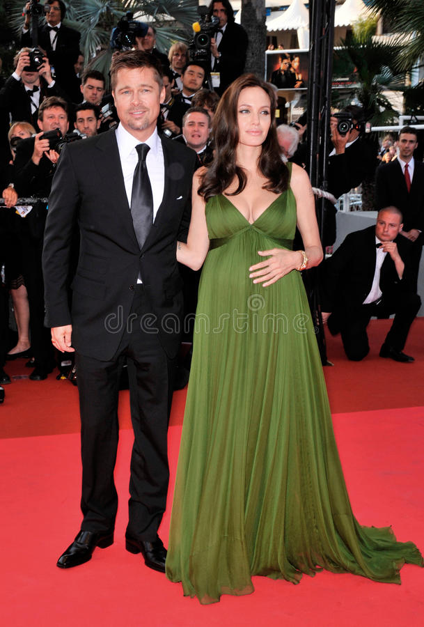 Brad Pitt, Angelina Jolie royalty-vrije stock afbeeldingen