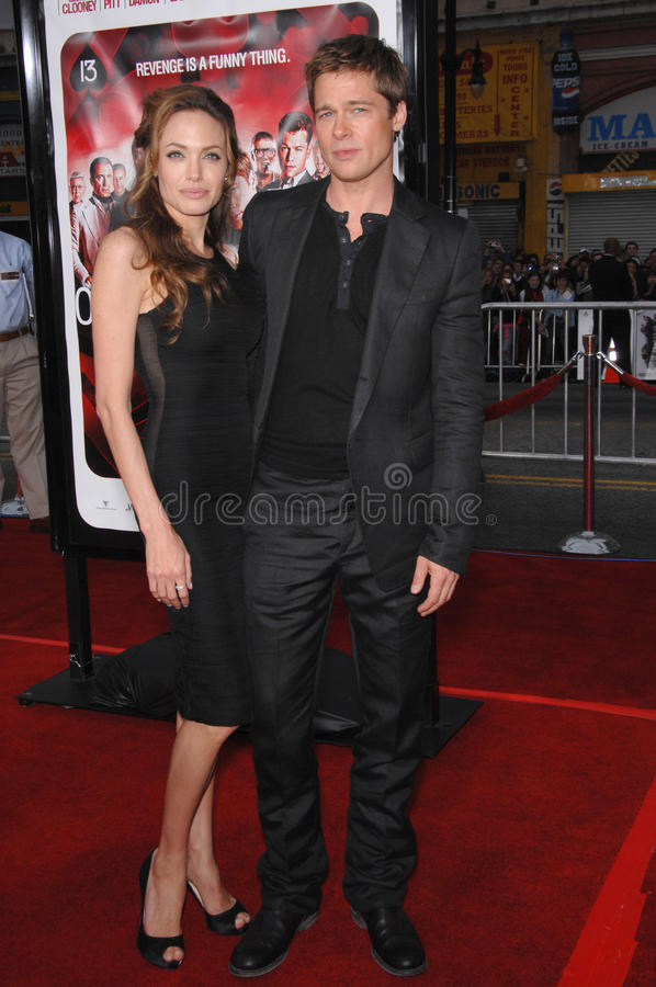 Brad Pitt, Angelina Jolie royalty-vrije stock foto