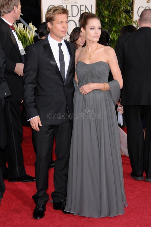 Brad Pitt, Angelina Jolie royalty-vrije stock foto's