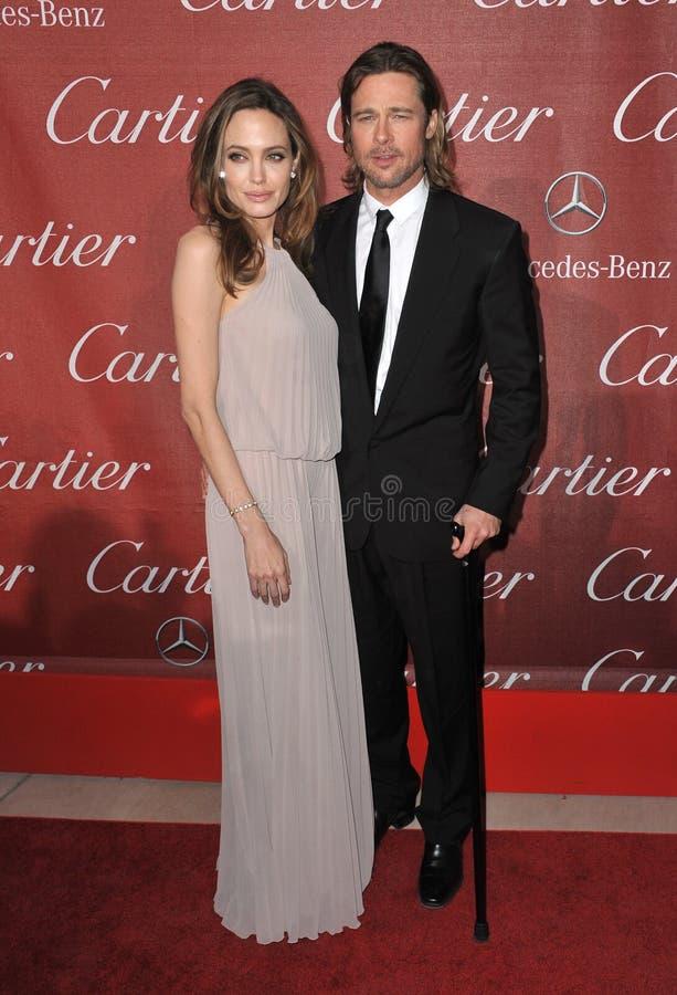 Brad Pitt, Angelina Jolie stock fotografie