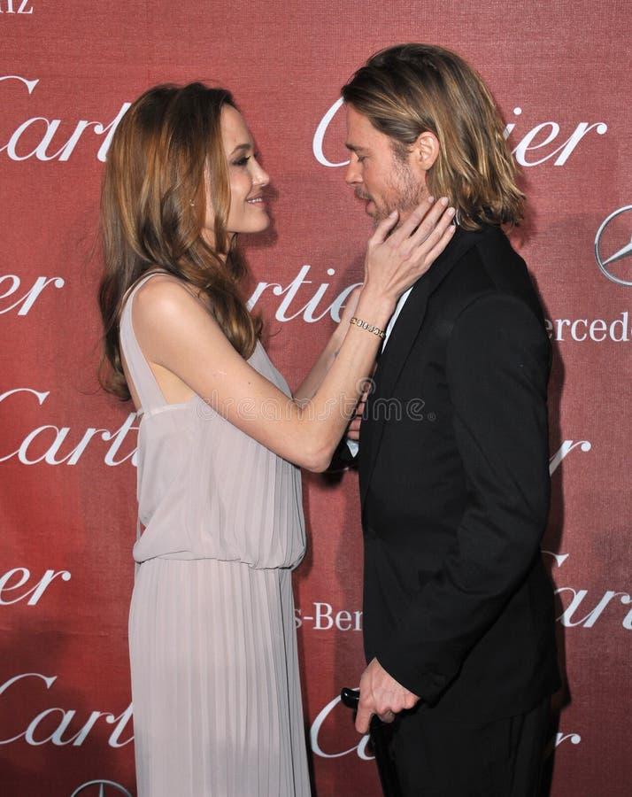 Brad Pitt, Angelina Jolie stockfoto