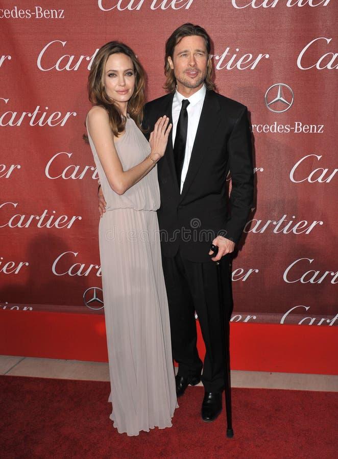 Brad Pitt, Angelina Jolie royalty-vrije stock afbeelding
