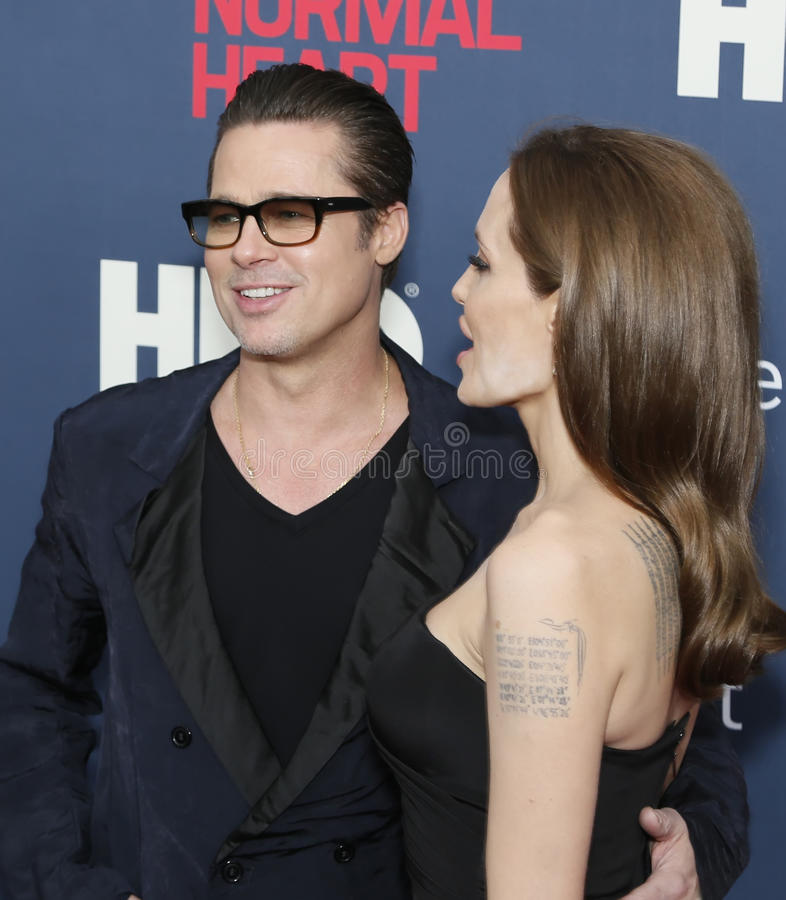 Brad Pitt e Angelina Jolie fotografia stock