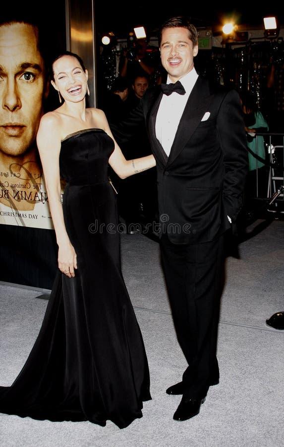 Brad Pitt en Angelina Jolie stock foto's