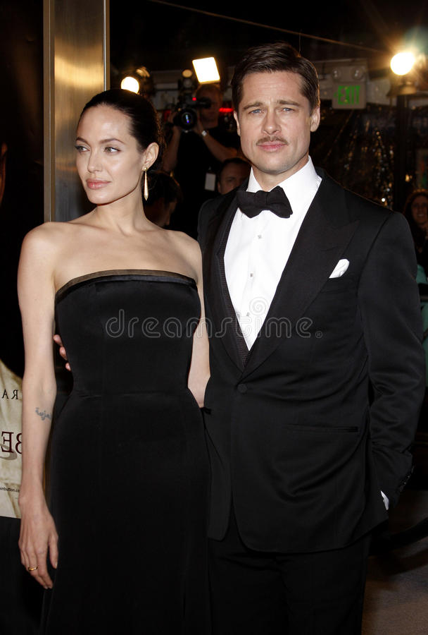 Brad Pitt en Angelina Jolie royalty-vrije stock foto's